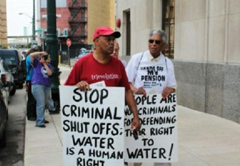 Water protest